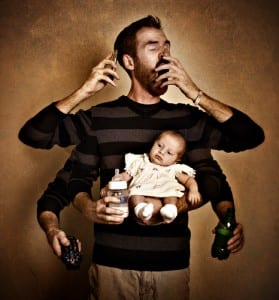 Father as Multitasker by Stephen Poff