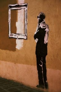 Bansky via Flickr user Ruben LC