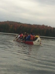 Canoeing as a team