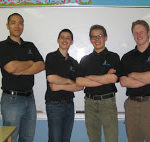 The GrEau Team: Teacher Chris Wong, Josh Boland, Benjamin Collier, Brandon Leon