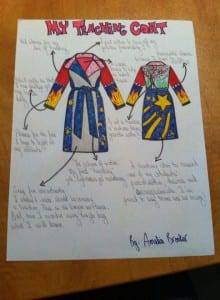 Amelia Brooker's coat