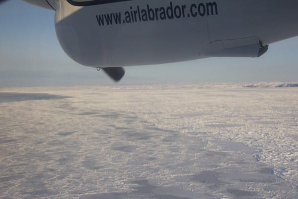 Flying from Blanc-Sablon to La Tabatiere.