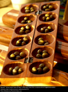 Mancala, traditional African board game