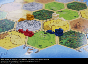 "Photo of ""Settlers of Catan"" Game Board"