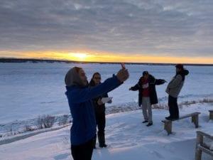 NWT Youth take selfies of horizon