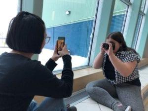 Students use technology for Digital Storytelling