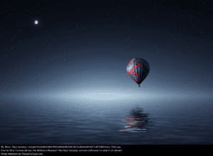 Hot Air Balloon Open Ocean