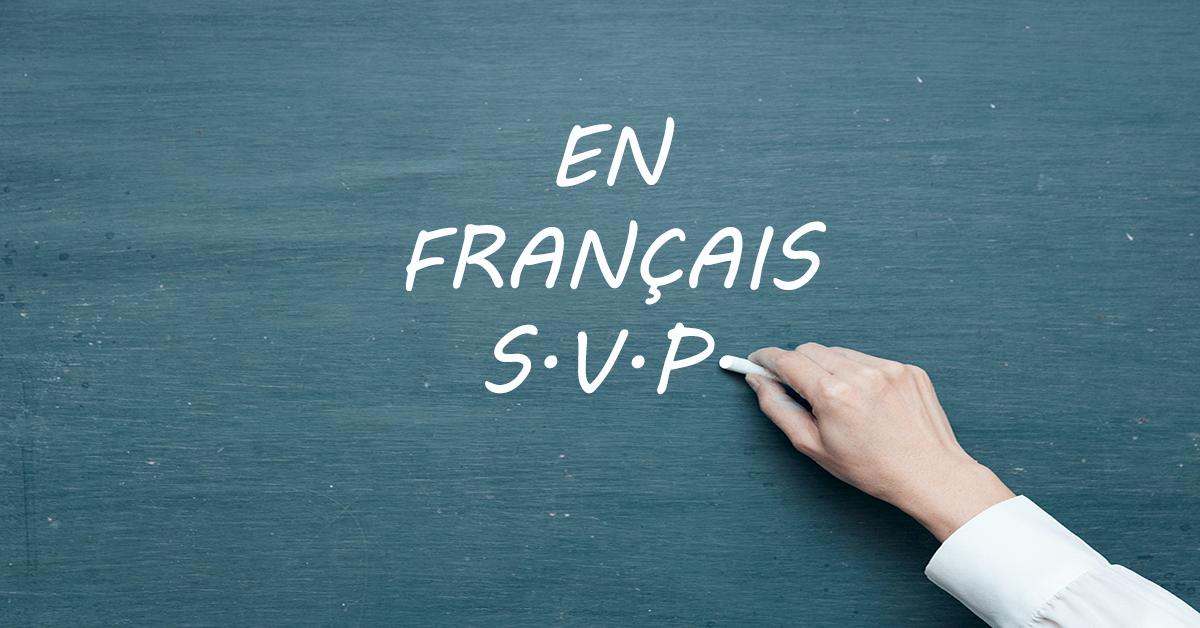 En français S.V.P. !