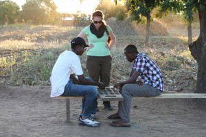 Learning to play Bawo with Themba and Frank